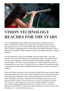 vision technology reaches for the stars