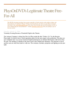 PlaysOnDVD`s Legitimate Theatre Free-For-All
