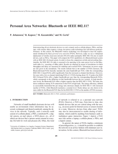 Personal Area Networks: Bluetooth or IEEE 802.11? | SpringerLink