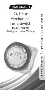 24 Hour Mechanical Time Switch