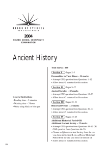 Ancient History - Board of Studies