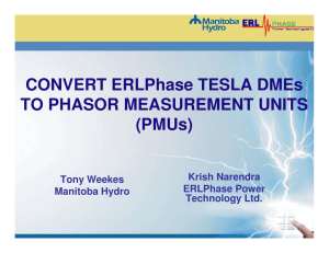 CONVERT ERLPhase TESLA DMEs TO PHASOR MEASUREMENT