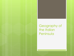 Geography of the Italian Peninsula