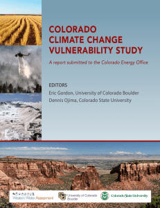 Colorado Climate Change Vulnerability Study