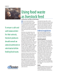 Using food waste as livestock feed - Outagamie County UW