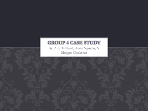 Group 4 Case study