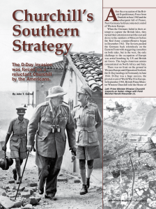 Churchill`s Southern Strategy