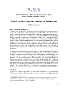 The Bali Bombings: Impact on Indonesia and