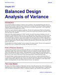 Balanced Design Analysis of Variance
