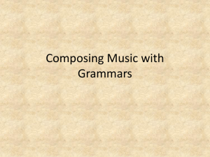 Composing Music with Grammars