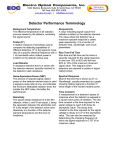Electro Optical Components, Inc. Detector Performance Terminology