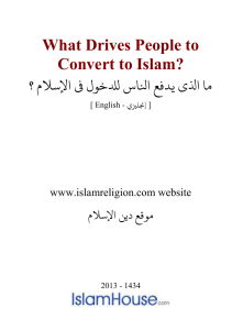 What Drives People to Convert to Islam? DOC