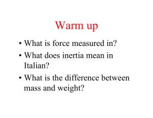 4.2 Force and Inertia