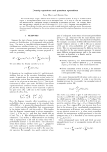 Density operators and quantum operations