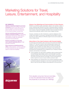 Marketing Solutions for Travel, Leisure, Entertainment, and