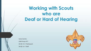 Working with Scouts who are Deaf or Hard of Hearing