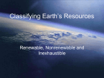 Classifying Earth`s Resources
