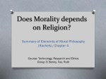 Does Morality depends on Religion?
