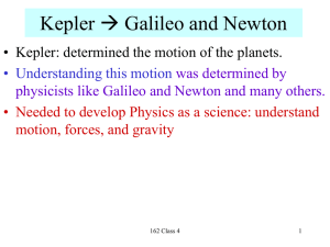 Galileo, Newton and Gravity 1/31