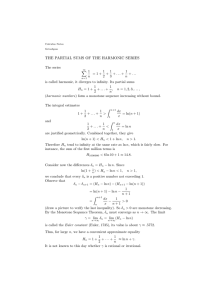 THE PARTIAL SUMS OF THE HARMONIC SERIES