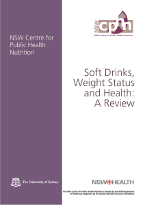 Soft drinks, weight status and health: a review