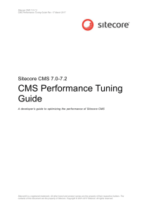 CMS Performance Tuning Guide - Sitecore