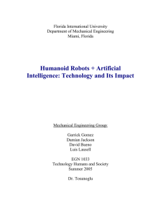 Humanoid Robots + Artificial Intelligence