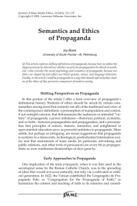 Semantics and Ethics of Propaganda