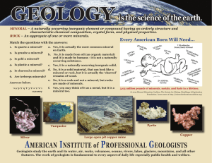GeoloGY is the science of the earth.