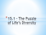 15.1 * The Puzzle of Life*s Diversity