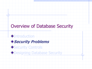 Overview of Database Security