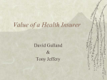 Value of a Health Insurer