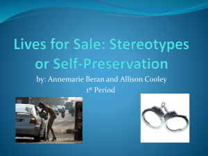 Sex for Sale: Stereotypes or Self