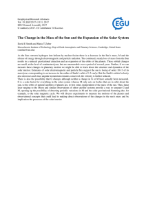 The Change in the Mass of the Sun and the Expansion of the Solar