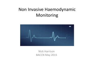 Non Invasive Haemodynamic Monitoring