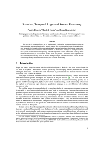 Robotics, Temporal Logic and Stream Reasoning