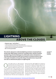 Lightning above the clouds - Centrum voor Wiskunde en Informatica