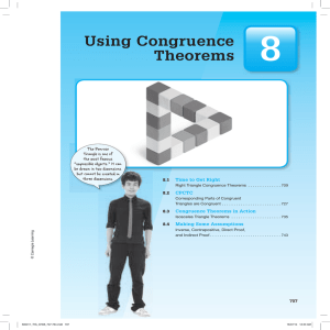 Using Congruence Theorems - IHS Math