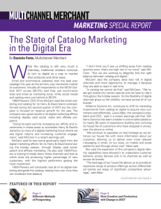 The State of Catalog Marketing in the Digital Era