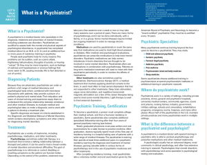 APA LTF What is a Psychiatrist:Layout 1