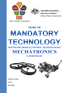 Mechatronics Folio Part 1