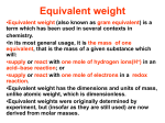 Equivalent weight