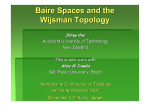 Baire Spaces and the Wijsman Topology