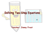 solving two step equations REVIEW