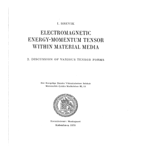 electromagnetic energy-momentum tensor within material media
