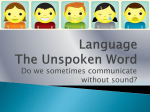Language The Unspoken Word