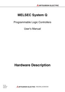 MELSEC System Q, Hardware Description, User`s Manual