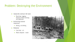 Problem: Destroying the Environment