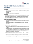 Activity 1.2.5 Mechanical System Efficiency