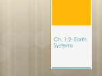 Ch. 1.2- Earth*s Spheres